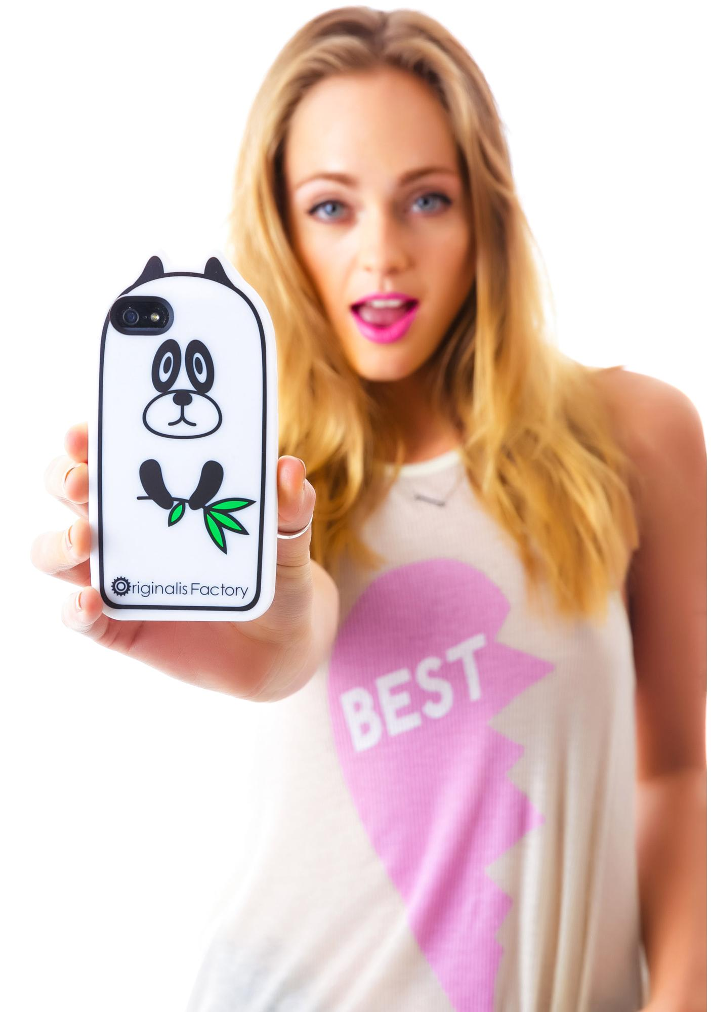 Smokin' Panda Grass iPhone 5 Case