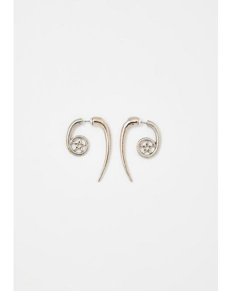 Twisted Hex Spiral Earrings