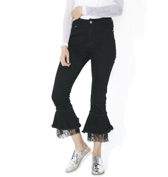 Forsaken Frills Ruffled Jeans