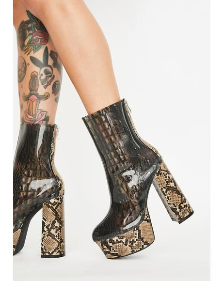 Dreamer Snakeskin Boots