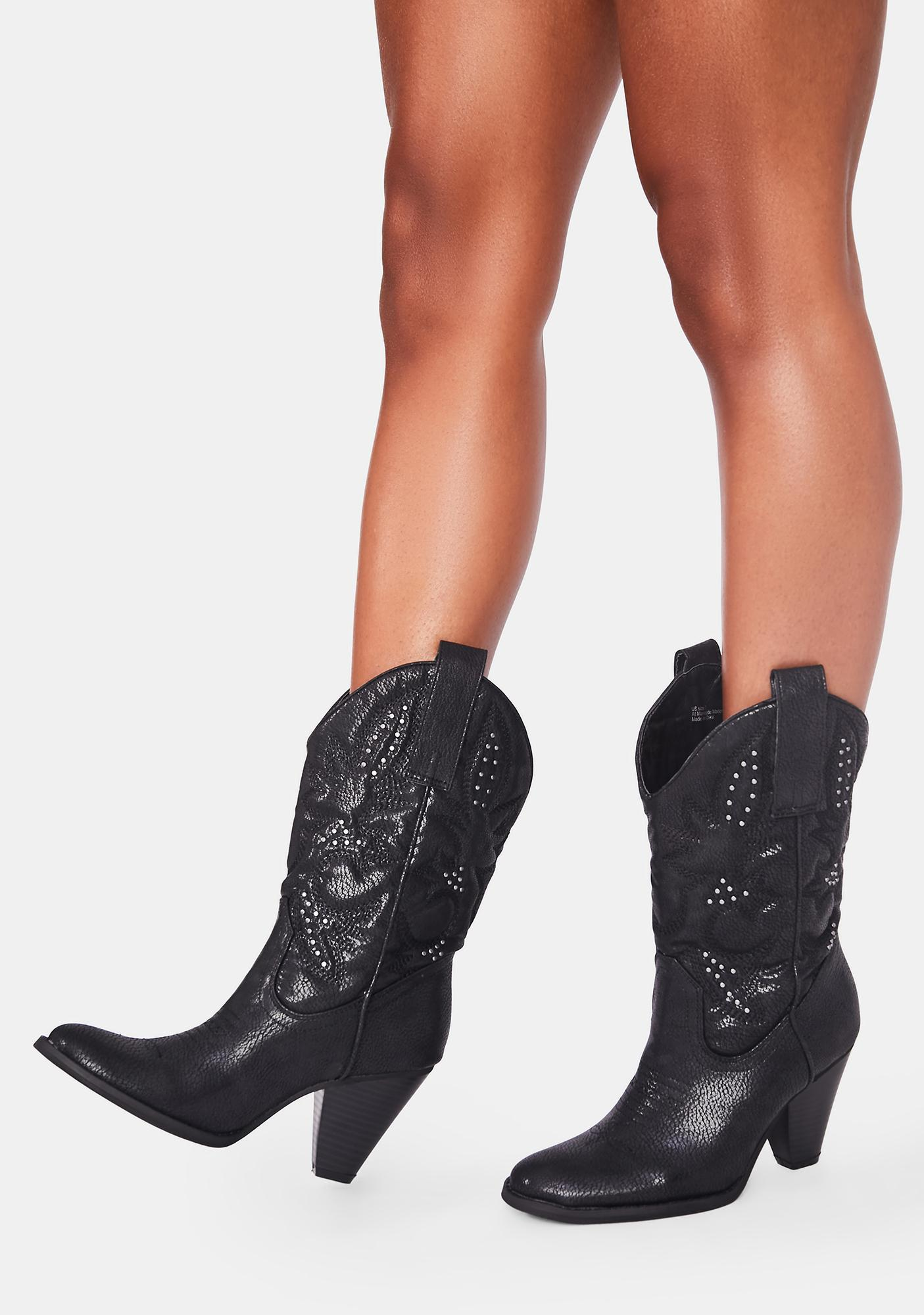 Volatile Shoes Nightbloom Cowboy Boots