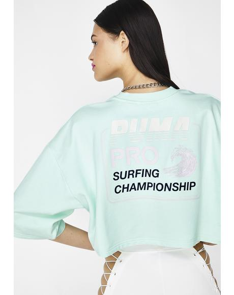 FENTY PUMA By Rihanna Cropped Crew Neck T-Shirt