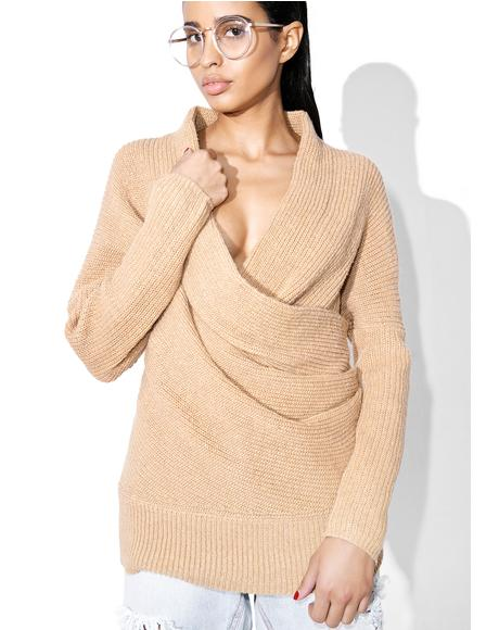 Don�t Let Go Knit Wrap Sweater