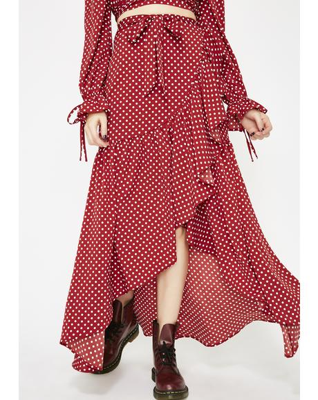 Prairie Charm Polka Dot Skirt