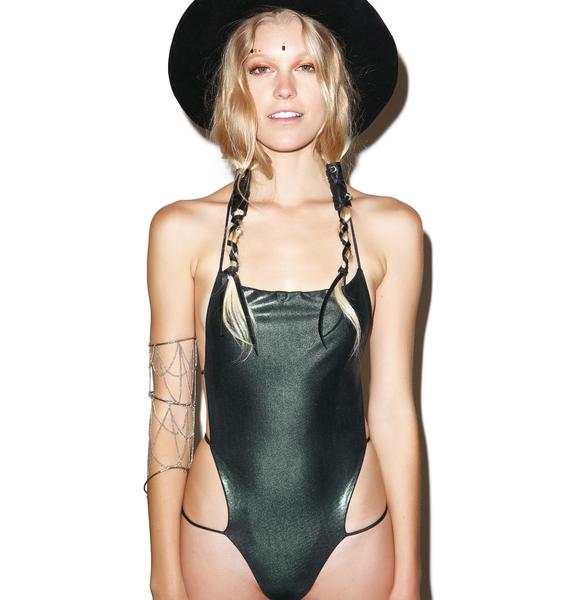 Indah Slither'd Backless One Piece