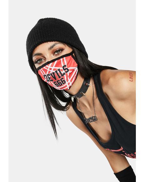 Satan's Cheerleader Face Mask