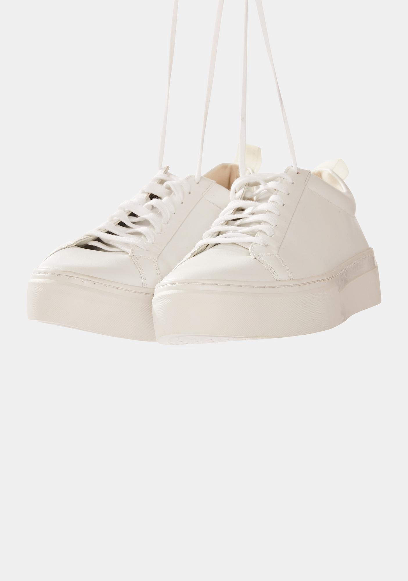 VAGABOND SHOEMAKERS White Zoe Leather Platform Sneakers