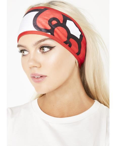 Red Hello Kitty Spa Headband