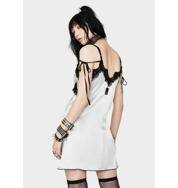 GANGYOUNG Silver Tails Silky Dress