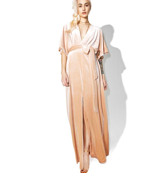 Glamorous Sweet May Velvet Maxi Dress