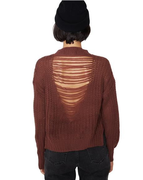 Good Grief Distressed Sweater