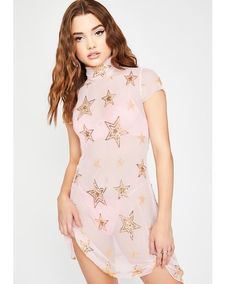 Blame The Stars Mesh Dress
