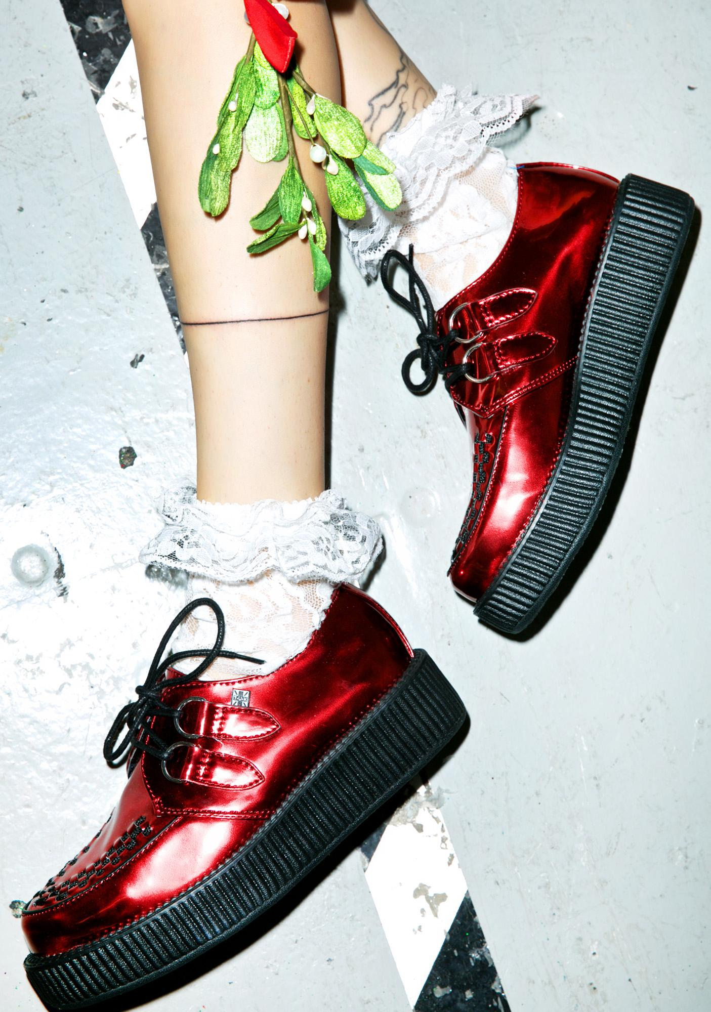 T.U.K. Patent Metallic Viva Low Creepers