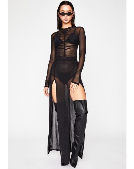 Up For Grabs Sheer Bodysuit