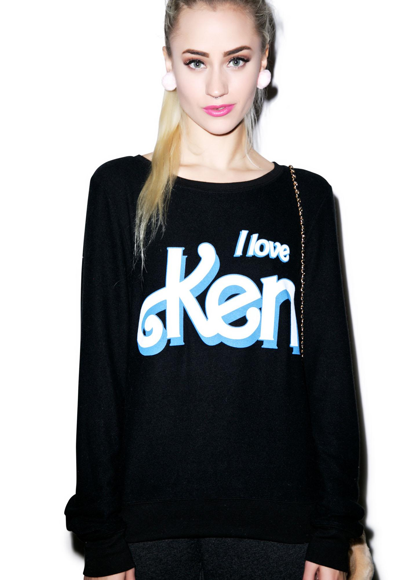 Wildfox Couture I Love Ken Baggy Beach Jumper
