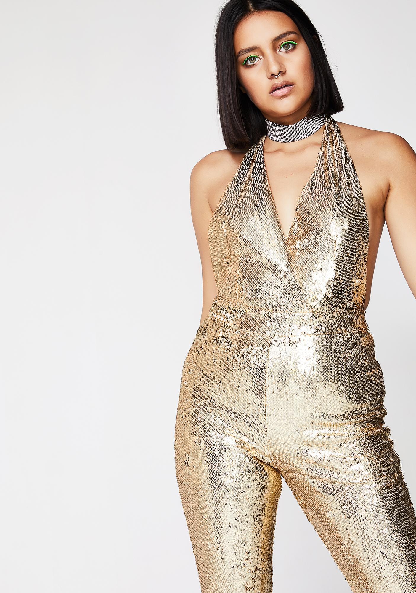 Spotlight Sight Sequin Catsuit