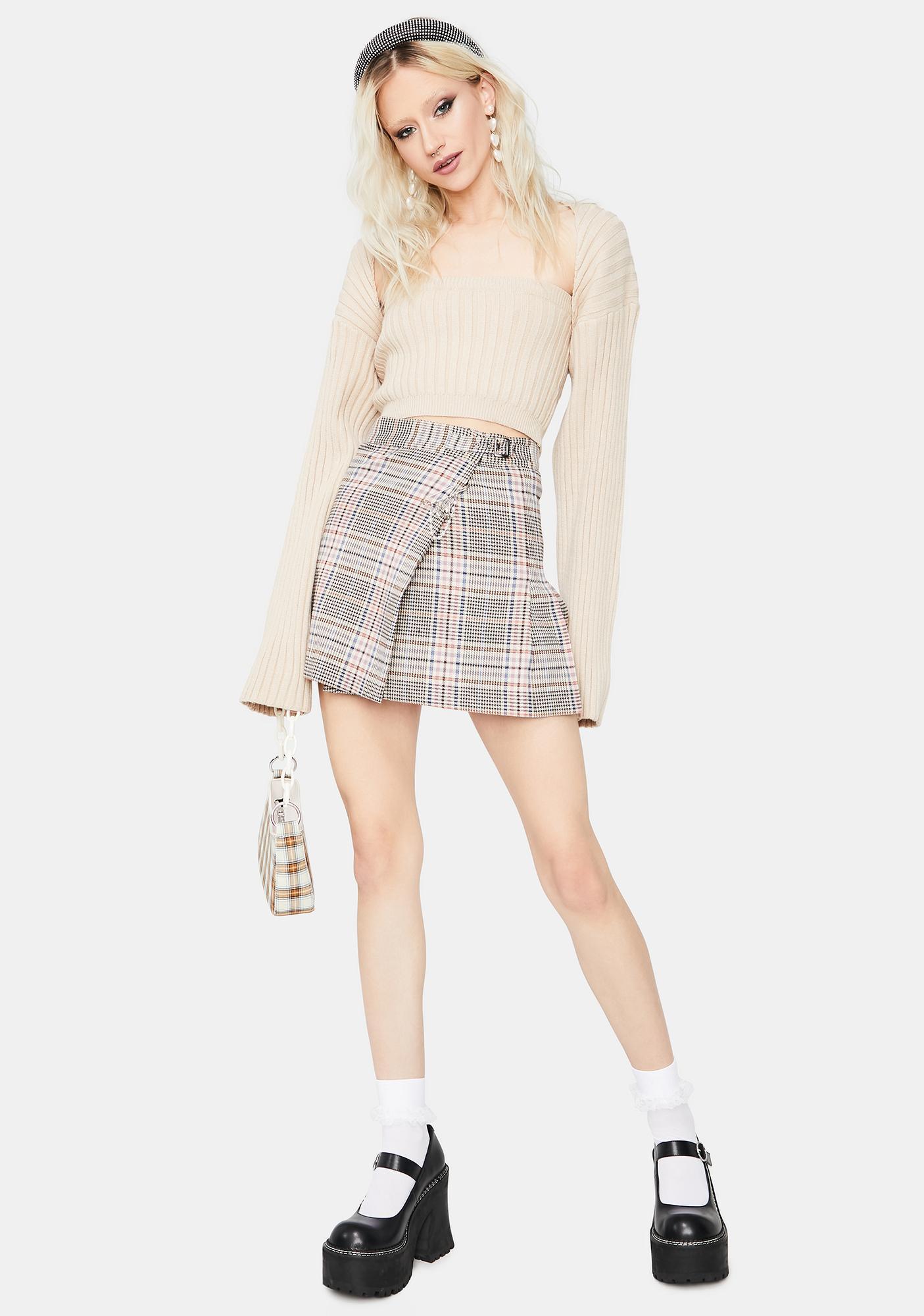 Beige My Sweet Side Knit Cardigan Set