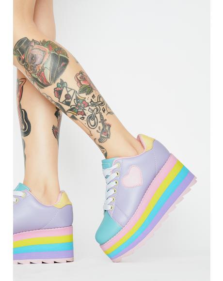 Pastel Lala Platform Sneakers