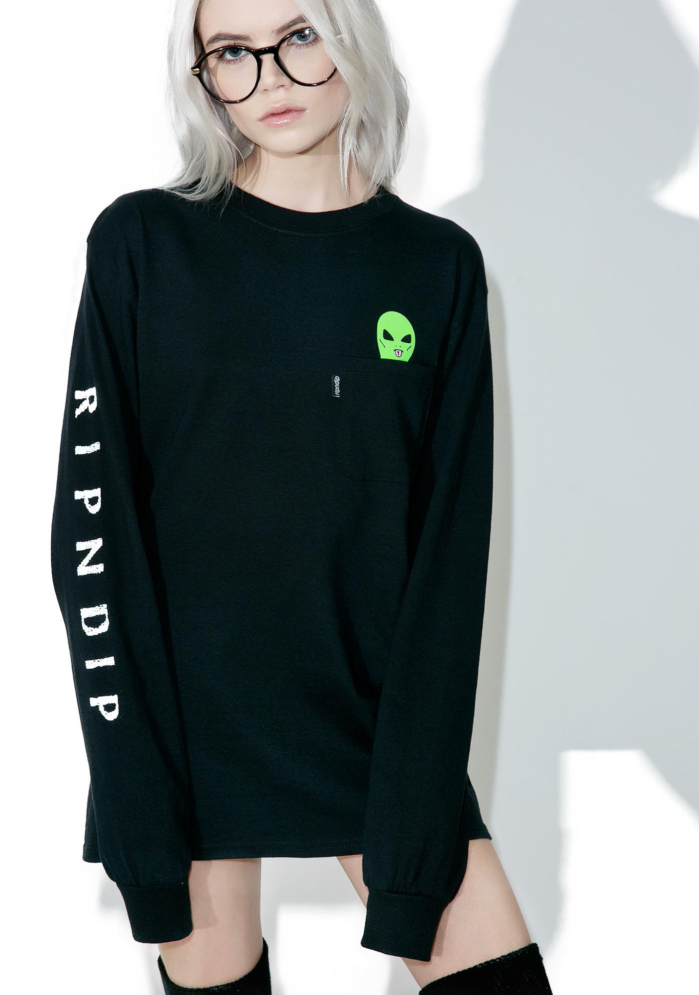 RIPNDIP Lord Alien Long Sleeve Tee
