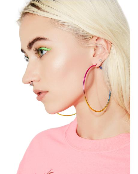 Chromashock Rainbow Hoop Earrings