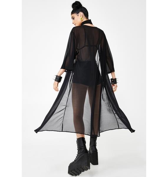 Rolita Rave Couture Dark Inferno Mesh Cover Up