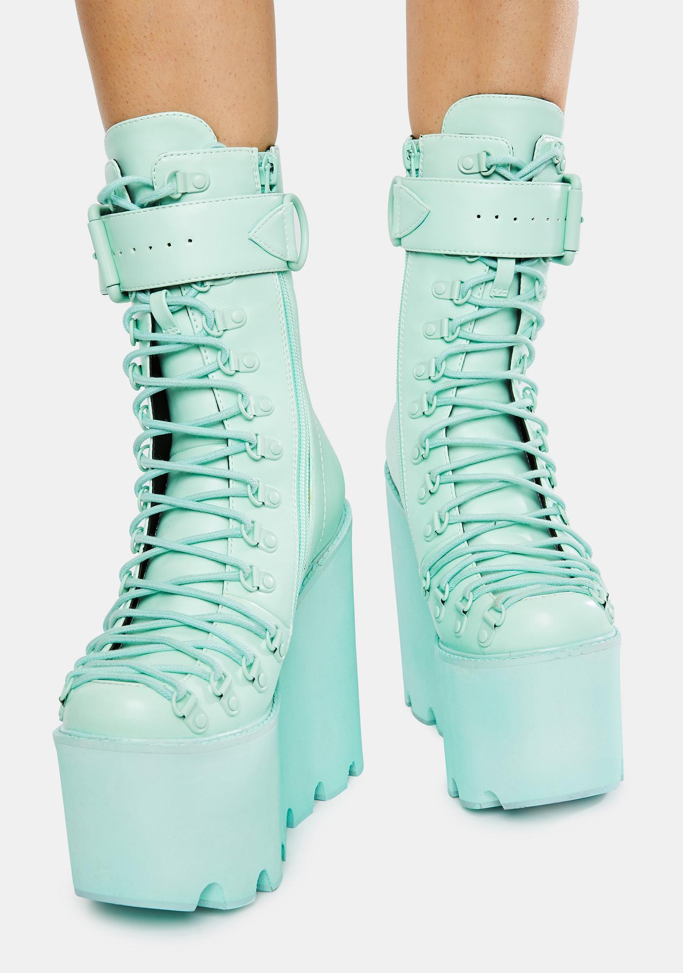 Sugar Thrillz Mint Traitor Boots