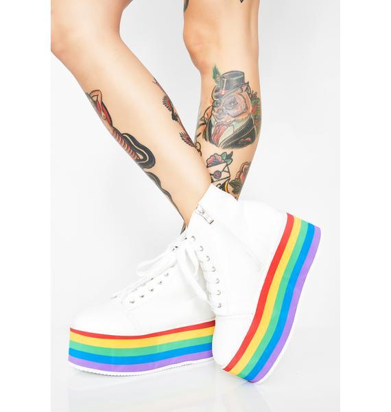 Rainbow Rebellion Platform Sneakers