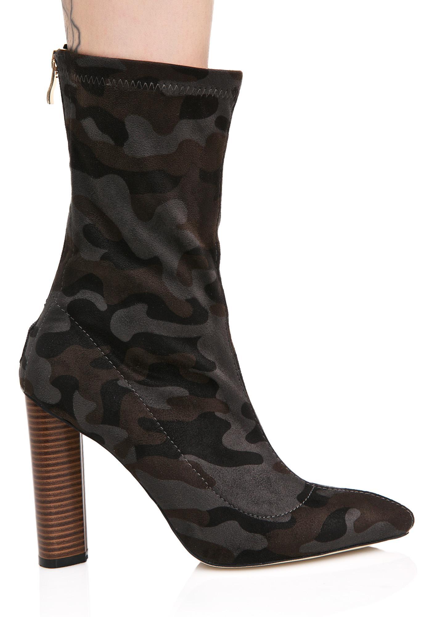 Public Desire Devon Camo Sock Boots