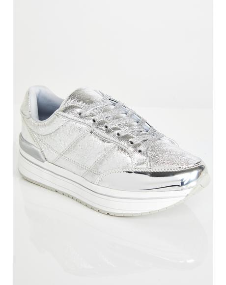 Chrome Run Up Platform Sneakers