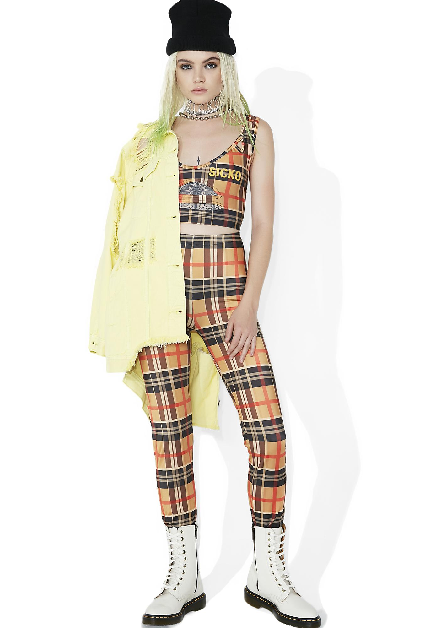 Sicko Cartel Hoochie Berry Plaid Track Set