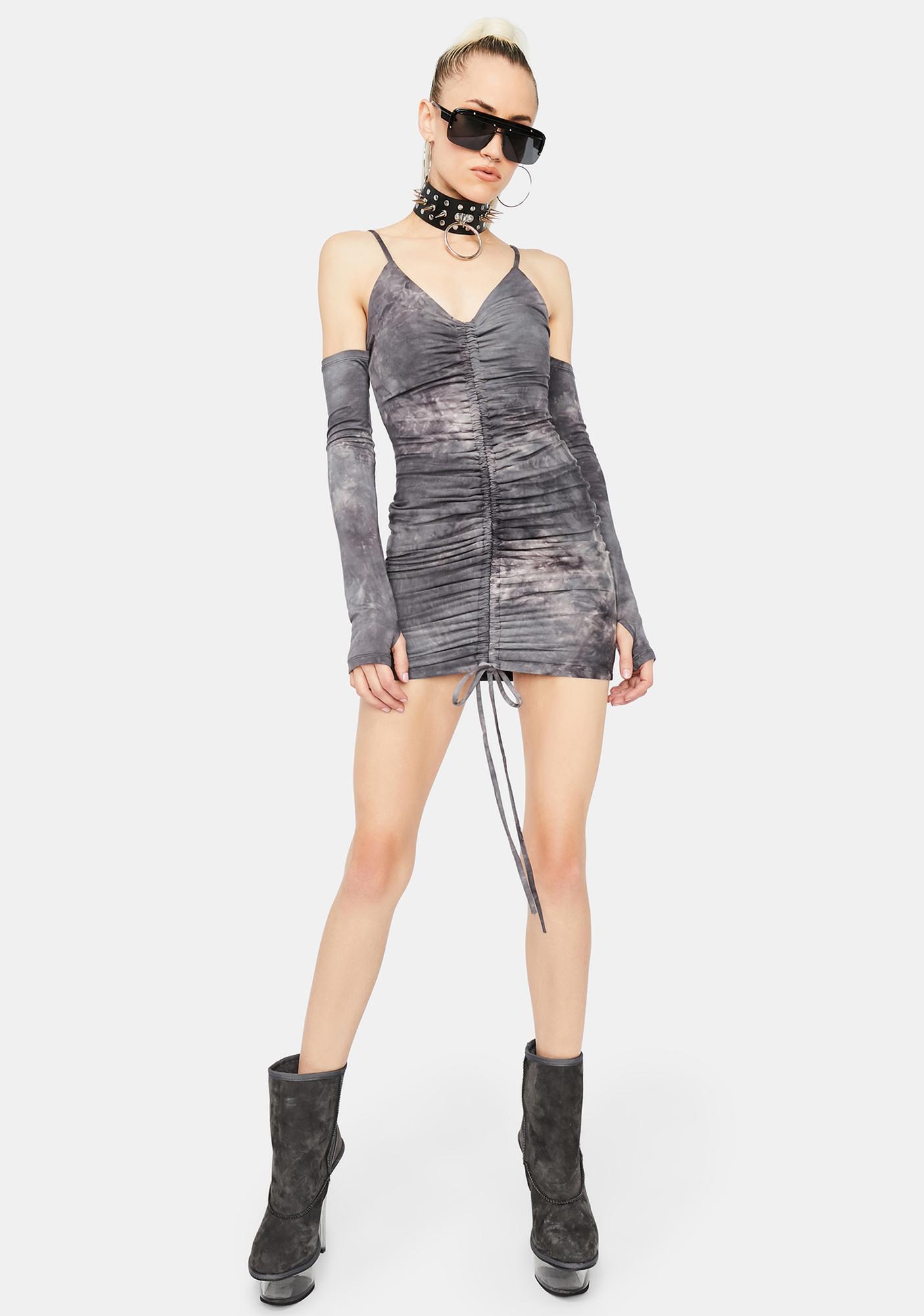 Acid Reflex Bodycon Dress