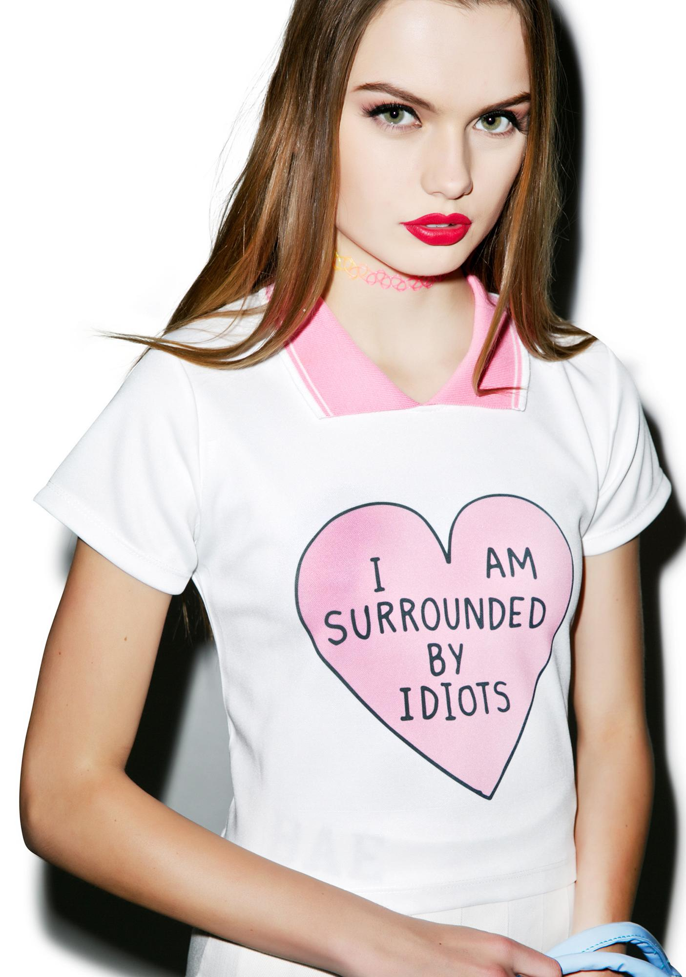 Surrounded By Idiots Polo Tee