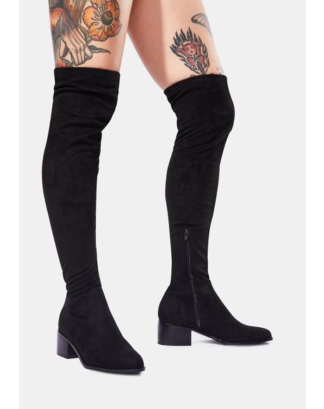 Black Sadie Knee High Boots