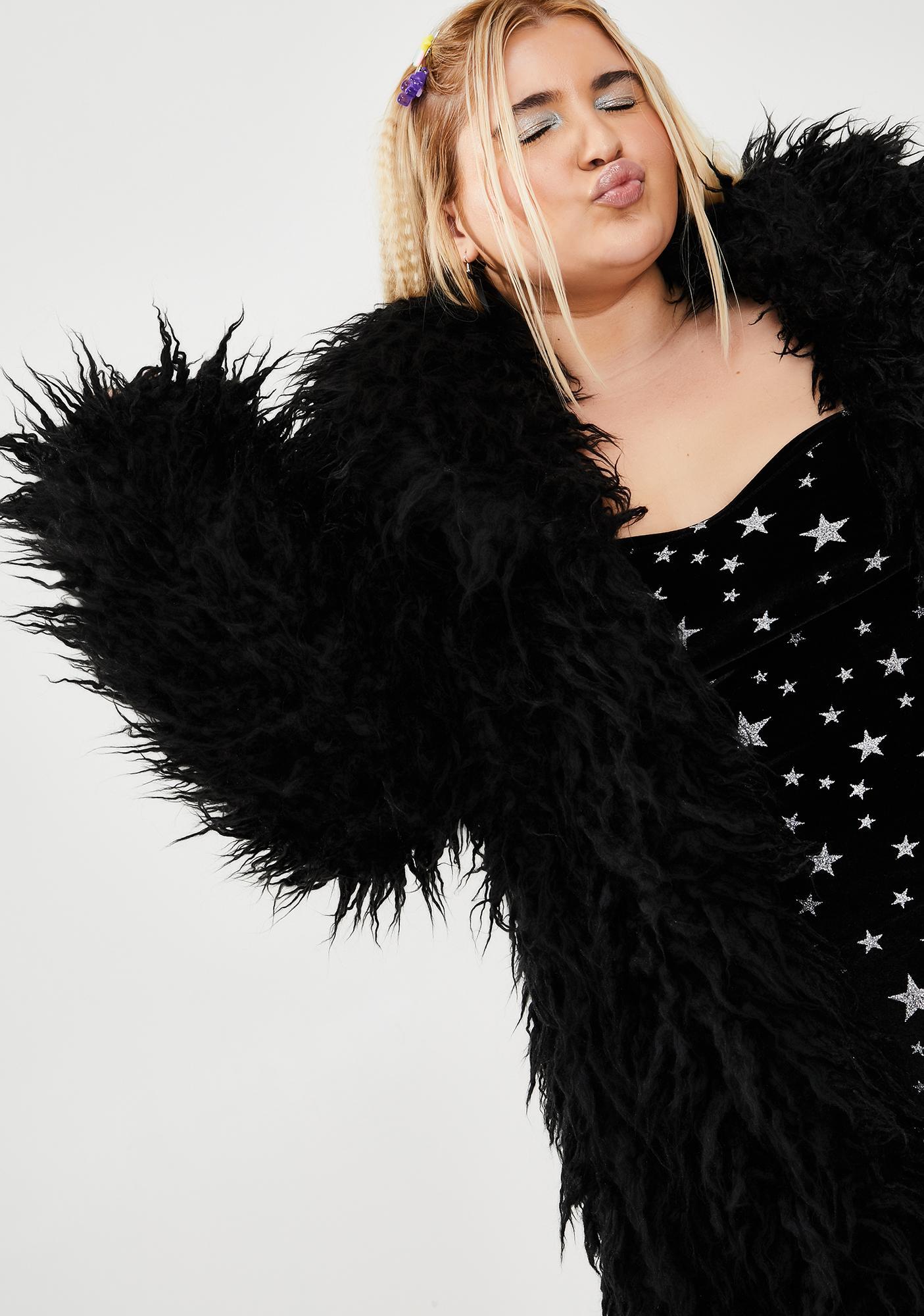 Miss Fame Monster Faux Fur Coat