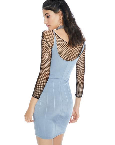 Smokescreen Bandage Bodycon Dress