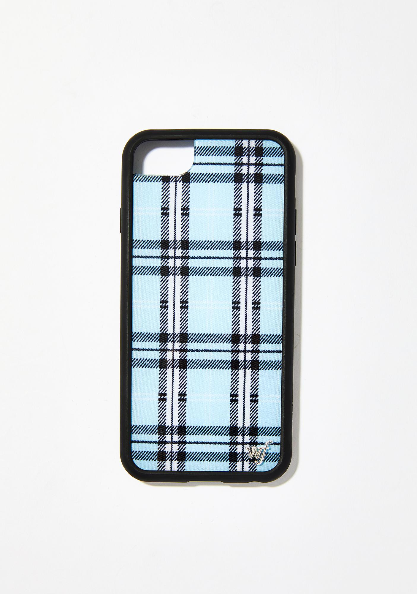 lowest price 535a4 99184 Sky Blue Plaid Iphone Case