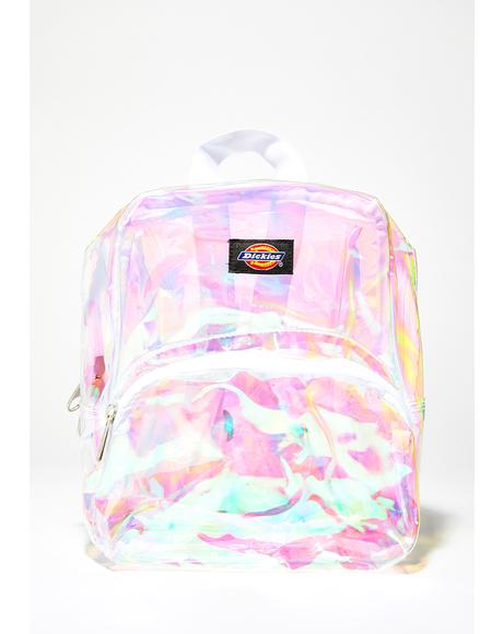 Champagne Iridescent Mini Backpack