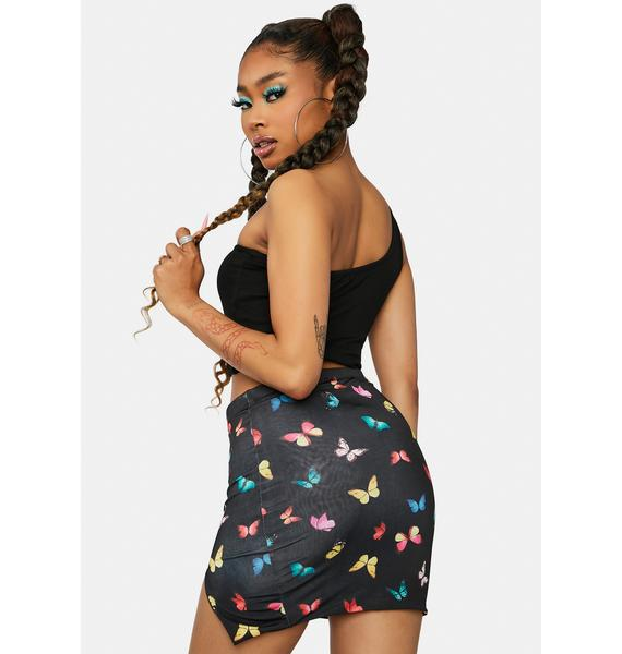 Butterfly Stages Mini Skirt