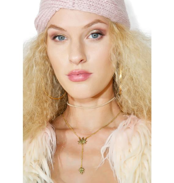 Blunted Objects Weed Leaf Lariat Necklace