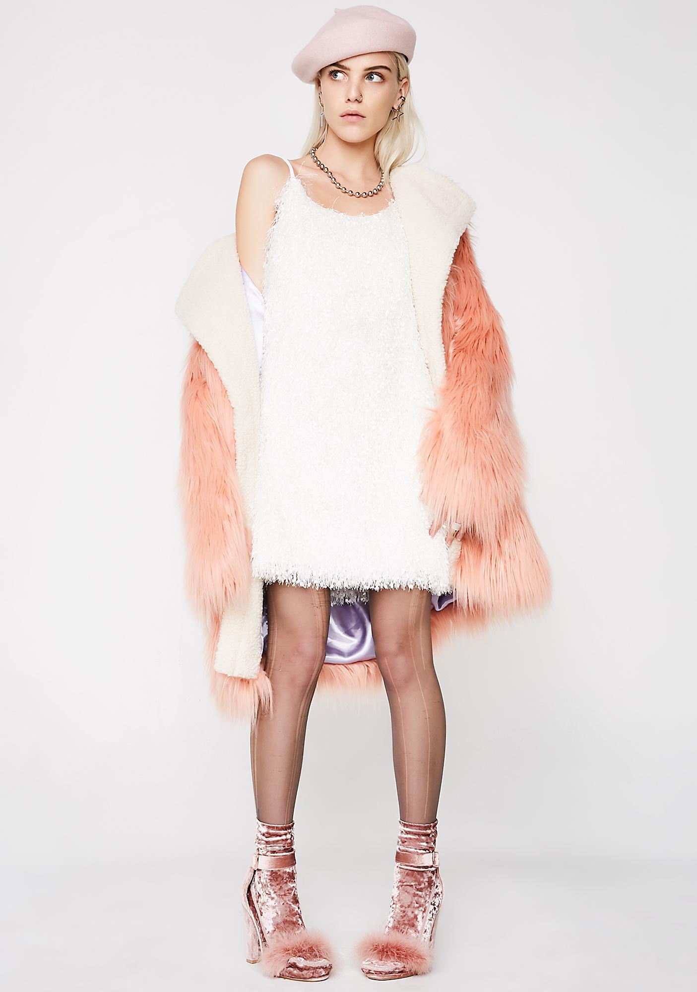Glamorous Mz Prissy Fluffy Mini Dress
