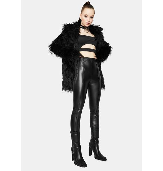 Totally Faking It Faux Leather Skinny Pants