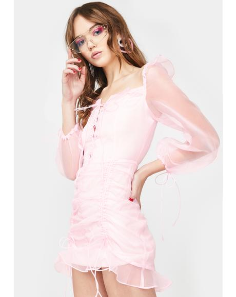 Baby Pink Feng Shui Mini Dress