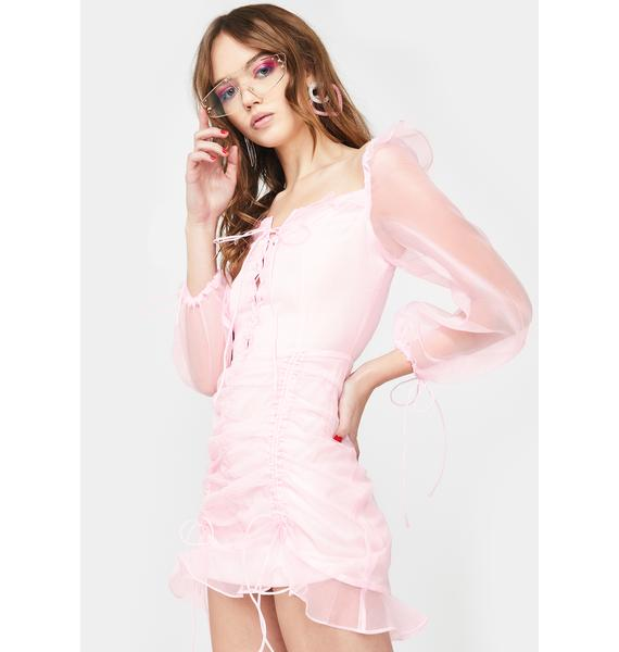 Lioness Baby Pink Feng Shui Mini Dress