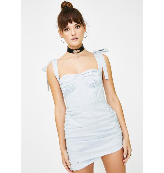 Lioness Denim Blue Senorita Mini Dress