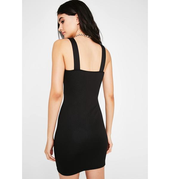 Lookin' Snatched ZIp Dress