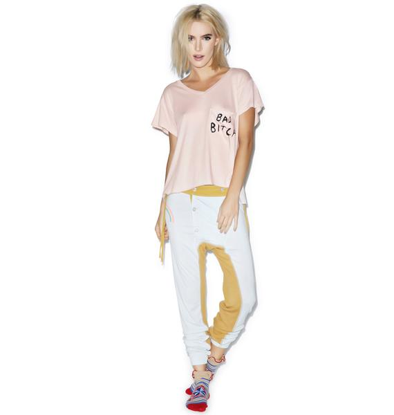Wildfox Couture Bad Bitch Romeo Pocket V-Neck Tee