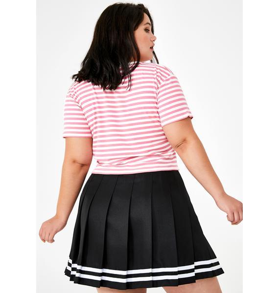 dELiA*s by Dolls Kill It Was Just A Kiss Pleated Skirt