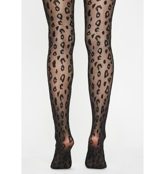 Meow For Me Leopard Tights