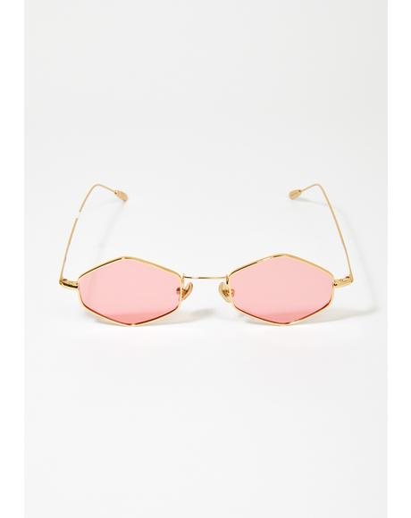 Pink Ford Wire Frame Sunglasses