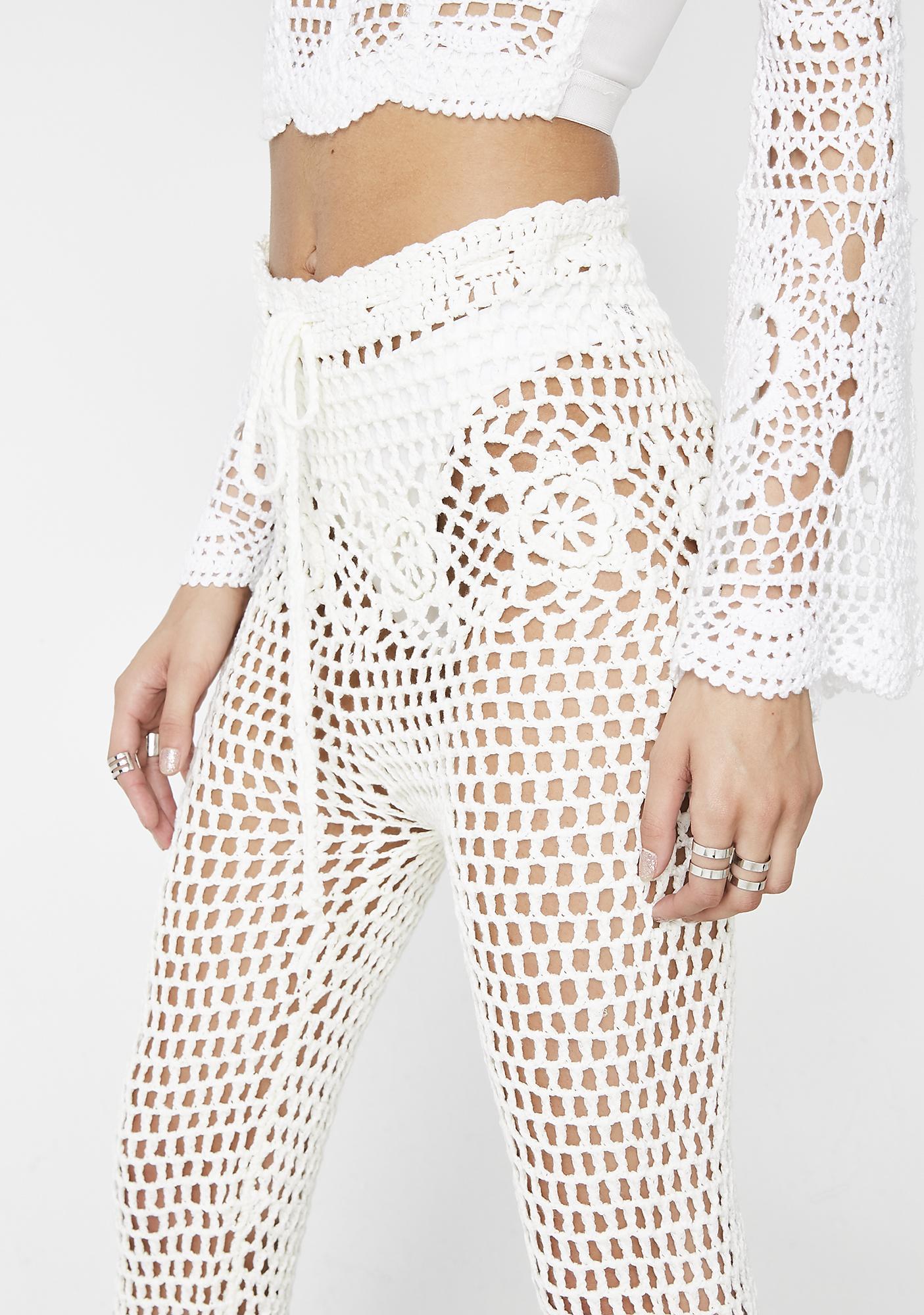 Clout Heaven Crochet Pants